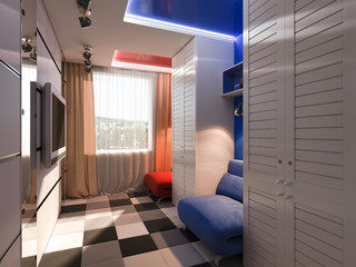 3D visualization of a child's room