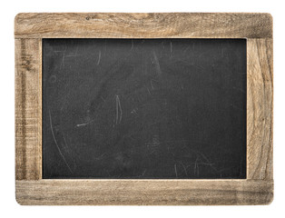 Chalkboard with wooden frame. Blackboard isolated