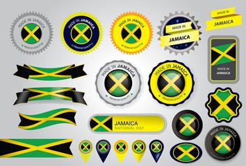 Made in Jamaica Seal, Jamaican Flag (Vector Art)