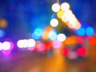 Bokeh lights in the city