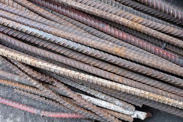 Metal steel rods.