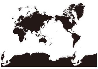 イラスト素材「世界地図」