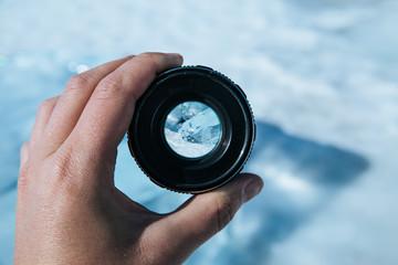 length of the lake Baikal through the camera lens