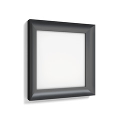 Classic black photo frame on white background. 3d rendering