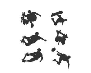 Skater silhouette logo icon vector
