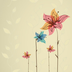 Floral illustration for cards and invitations