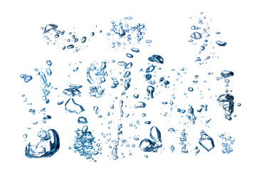 collection of of underwater bubbles