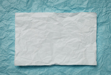 paper card on cyan background