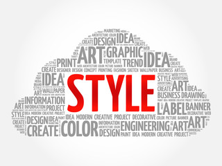 STYLE word cloud, creative business concept background