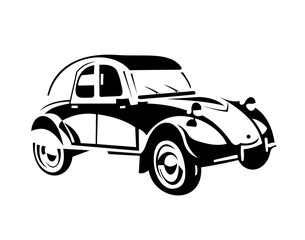 stylish vector picture vintage cars large items