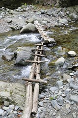 渓流に架かる橋