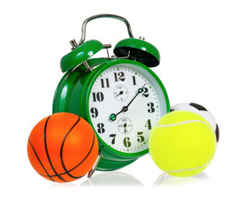 Green alarm clock with small balls