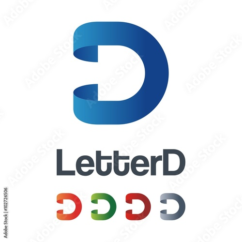 Clean letter d logo design ribbon stock image and royalty free clean letter d logo design ribbon thecheapjerseys Images