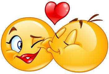 Emoticons kissing
