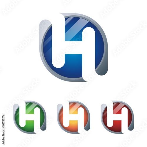 modern logo of letter h template