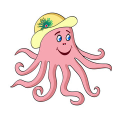 Octopus vector cartoon