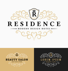 Luxurious Royal Logo Vector Re-sizable Design Template Suitable For Businesses and Product Names, Luxury industry like hotel, wedding, restaurant, beauty salon, real estate, resort and spa.