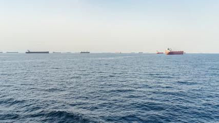 Tanker auf Reede