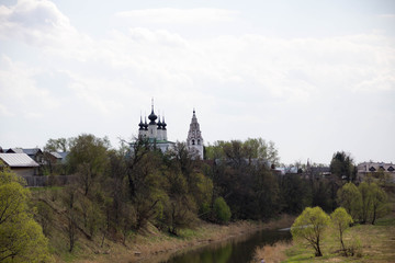 The old historic Russian town of Suzdal - the Golden Ring tourist places
