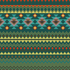 Geometric seamless background in ethnic style