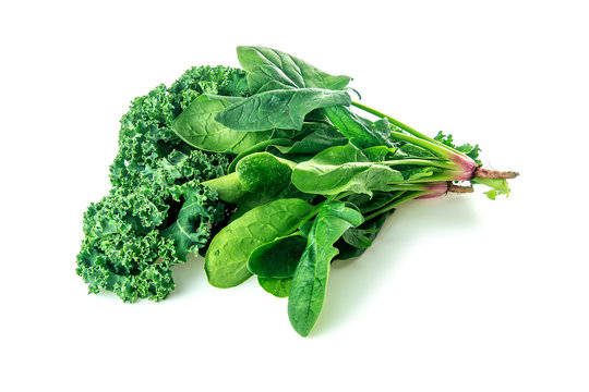 Leafy green veggies with kale and spinach