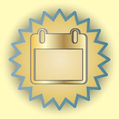 Calendar gold icon