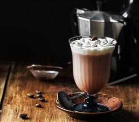 Homemade Irish Coffee with Whipped Cream