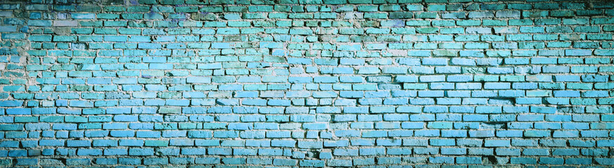 Background of blue brick wall pattern texture. High resolution