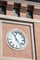 Clock on the county courthouse in Durango, Colorado