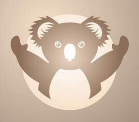 funny koala icon