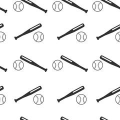 vector pattern baseball. Pattern ball and bat