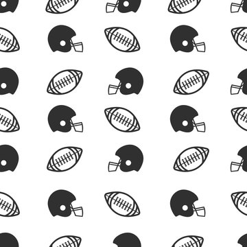 vector football pattern. Pattern ball and helmet