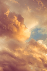 Aluminium Prints Heaven beautiful clouds at sunset