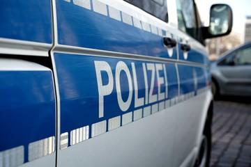 geparktes Polizeiauto in der Innenstadt von Magdeburg