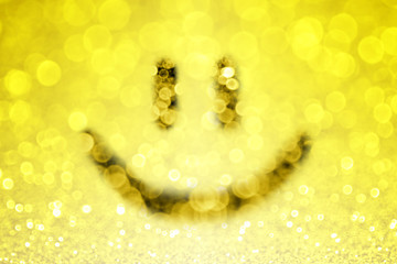 Abstract Happy Smiley Face Emoji Emotion Background