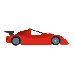 Speeding race car flat icon
