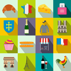 France flat icons
