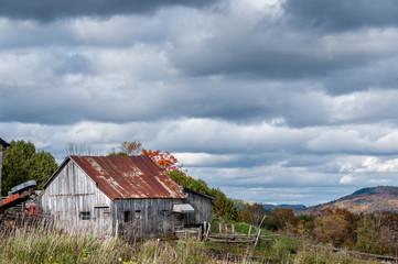 old rustic barn in Autumn