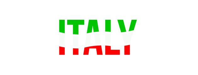 Italy flag typo logo