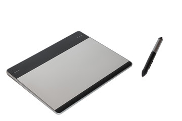 Graphic tablet with a feather
