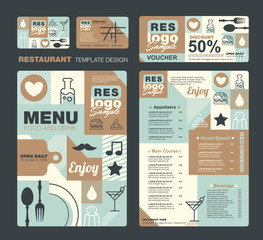 Big set of restaurant and cafe menu design,voucher,business card,Restaurant cafe menu, template design, Food flyer