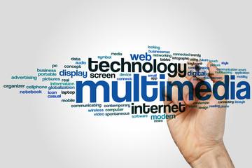 Multimedia word cloud