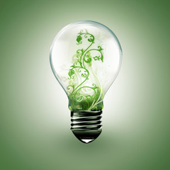 light bulb with floral ornament