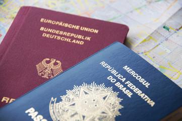 Brazilian and German passports