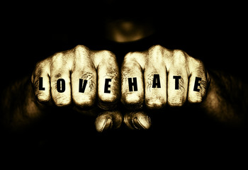 Thugs Love and Hate Tattoo Fists