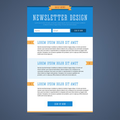 Newsletter page design.