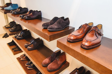 Men shoes in a store