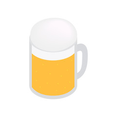 Mug of beer isometric 3d icon