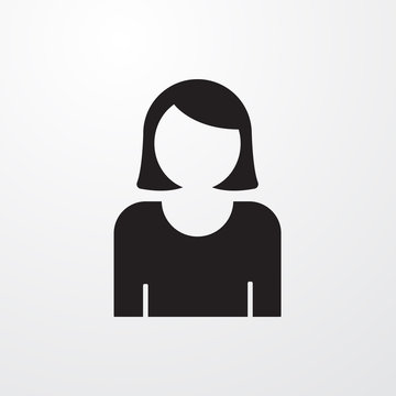 Female user avatar icon for web and mobile.