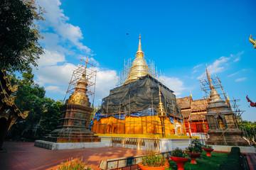 "wat-phrasing 18 December 2015:""Thailand temple art "" Chiang Mai Thailand"